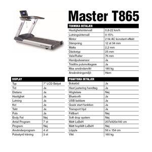 Löpband Master T865 Manttis *Kampanj*