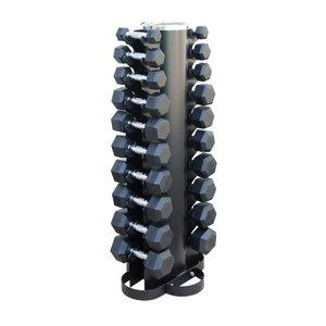 Hantelsats 1-10 kg/10 par Inkl. Pelarställ