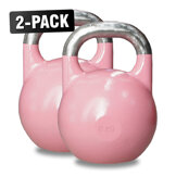 Competition Kettlebells WH 8 kg Rosa, 2-Pack