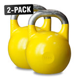 Competition Kettlebells WH 16 kg Gul, 2-Pack