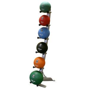 Ställ för medicinbollar, stående, 6 hyllor