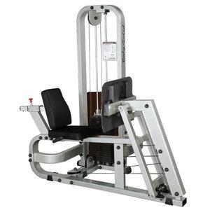 Body Solid Sittande Benpress, 140 kg viktmag.