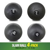 4-Pack Workhouse Slam Balls 5,7,10,15 kg