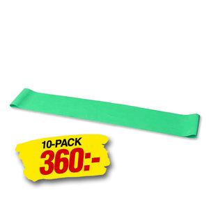 Mini Band Omkrets 60cm Lätt Grön 10-pack