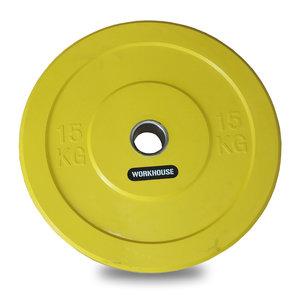 Bumper Plate 50mm WH Gul 15kg