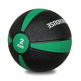 Medicinboll i gummi 2 kg Svart/Grön *Nyhet*