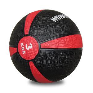 Medicinboll i gummi 3 kg Svart/Röd *Nyhet*