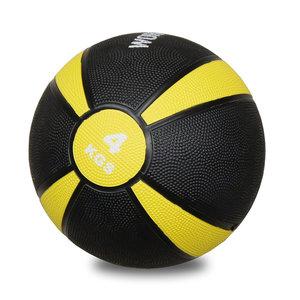 Medicinboll i gummi 4 kg Svart/Gul *Nyhet*