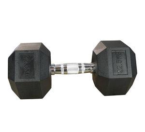 Hexhantel Gummi/Krom, 22,5 kg Master
