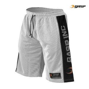 Gasp No1 Mesh Shorts, White/Black
