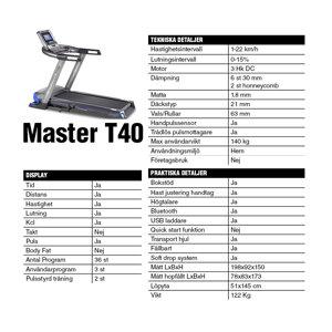 Löpband Master T40 *Kampanj*