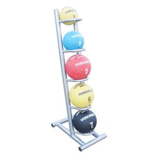 Ställ för medicinbollar, stående, 5 hyllor