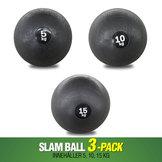 3-Pack Workhouse Slam Balls 5,10,15 kg