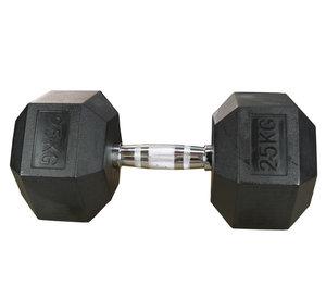 Hexhantel Gummi/Krom, 27,5 kg
