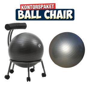 Ball Chair för gymboll med ryggstöd + 1 st Gymboll 55 cm
