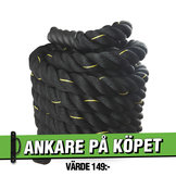 Battle Rope 12m/5cm Svart Workhouse *Ankare på köpet*