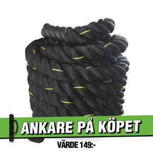 Battle Rope 12m/5cm Svart Workhouse *Ankare på köpet*