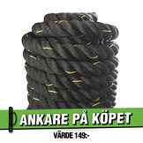 Battle Rope 15m/5cm Svart Workhouse *Ankare på köpet*