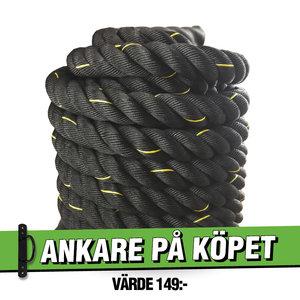 Battle Rope 15m/5cm Svart Workhouse *Ankare på köpet*
