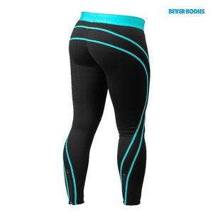 Athlete tights Black/Aqua